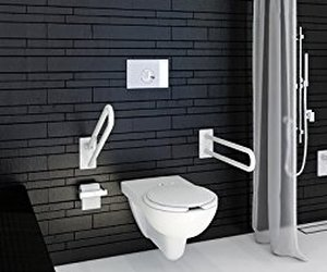 Toilettengestell mit verstellbarer Höhe und Breite